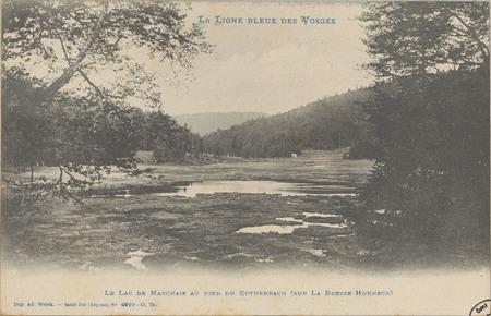 Le Lac de Marchais au pied du Rothenbach (sur La Bresse hohneck)