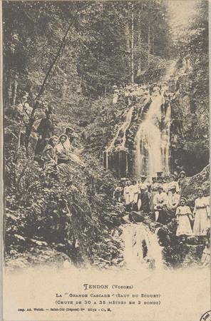 """Tendon (Vosges), La """"Grande cascade"""" (Saut du Scouet) (Chute de 30 à 35 mè…"""