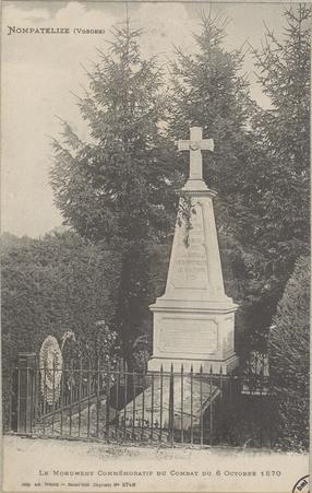 Nompatelize (Vosges), Le monument commémoratif du 6 octobre 1870
