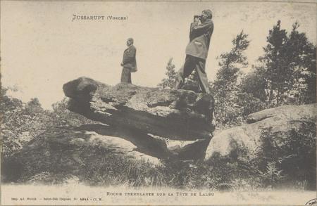 Jussarupt (Vosges), Roche tremblante sur la tête de Laleu
