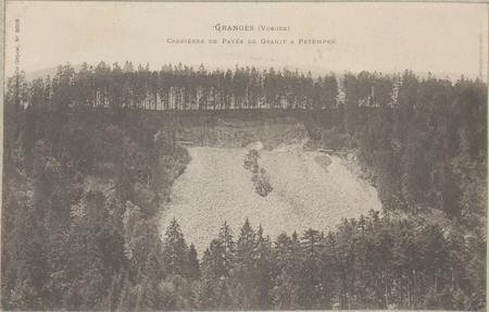 Granges (Vosges), Carrière de pavés de granit à Petempré