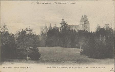 NeufChâteau - Frébécourt (Vosges), Côté nord du Château de Bourlémont - Vu…