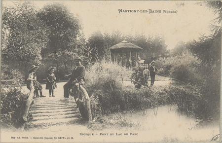 Martigny-les-Bains (Vosges), Kiosque - Pont et lac du parc