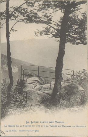 La Roche de la source et vue sur la Vallée de Munster au Hohneck