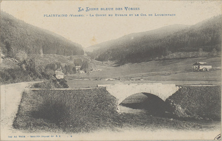 Plainfaing (Vosges), La Combe du Rudlin et le Col de Louschpach