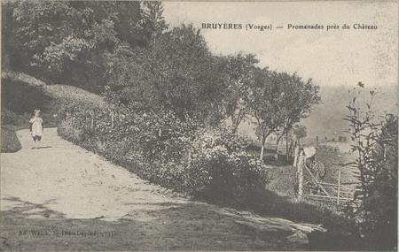 Bruyères (Vosges), Promenades près du Château