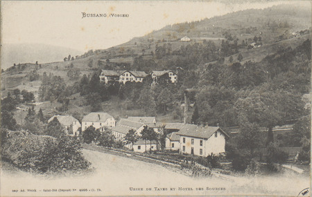Bussang (Vosges), Usine de tayes et Hôtel des Sources
