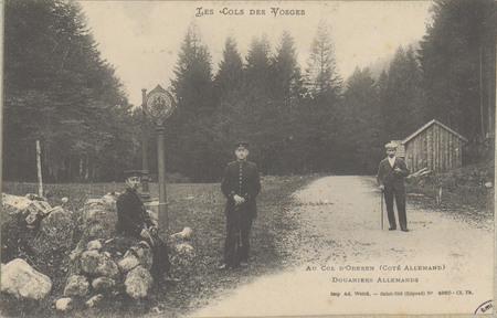 Au Col d'Oderen (Côté allemand), Douaniers Allemands
