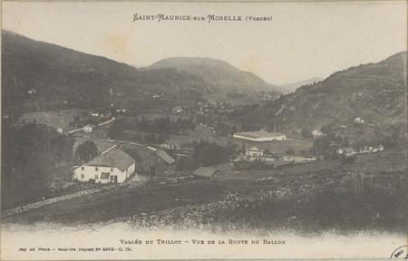 Saint-Maurice-sur-Moselle (Vosges), Vallée du Thillot, Vue de la route du …