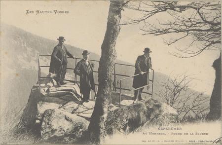Gérardmer, Au Hohneck, Roche de la source