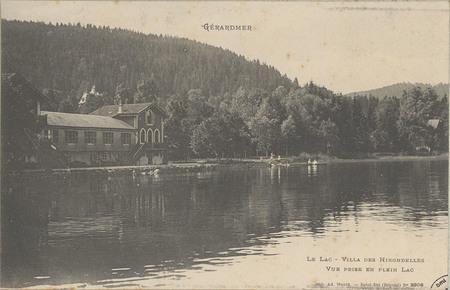 Gérardmer, Le Lac, Villa des Hirondelles, Vue prise en plein lac