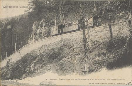 Le tramway électrique de Retournemer à la Schlucht, aux Grands'Murs