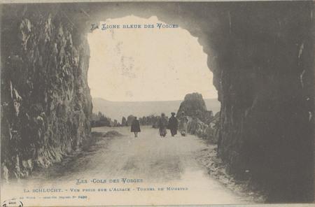 La Schlucht, Vue prise sur l'Alsace, Tunnel de Munster