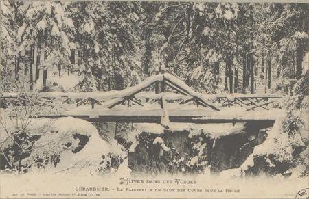 Gérardmer, La Passerelle du Saut des Cuves sous la neige