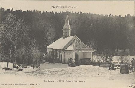 Martimprey (Vosges), La Chapelle (XVIe siècle) en hiver