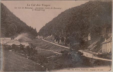 Le Col de Bussang, Ancienne route de Bussang à Wesserling