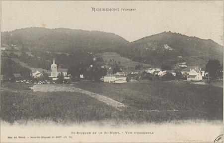Remiremont (Vosges), St-Etienne et le St-Mont, Vue d'ensemble