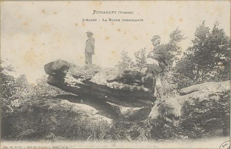 Jussarupt (Vosges), L'Alleu, La Roche tremblante