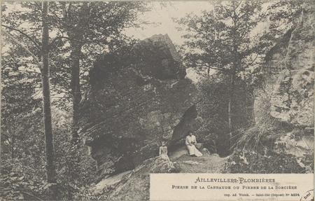 Aillevillers - Plombières, Pierre de la Carraude ou Pierre de la Sorcière