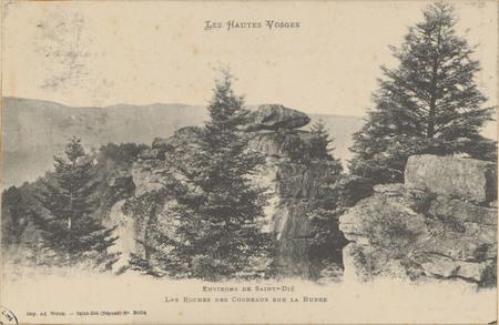 Environs de Saint-Dié, Les Roches des Corbeaux sur la Burre