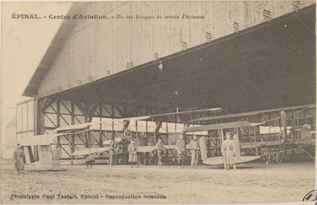 Épinal, Centre d'aviation, Un des hangars du terrain d'aviation