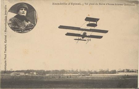 Escadrille d'Épinal, Vol plané du Maître d'Armes aviateur Quennehen