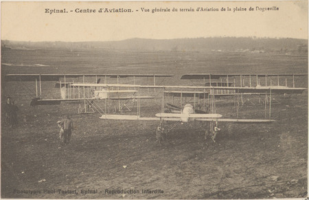 Épinal, Centre d'aviation, Vue générale du terrain d'aviation de la plaine…