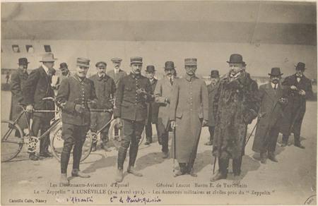 """Le """"Zeppelin à Lunéville (3-4 avril 1913), Les Autorités militaires et civ…"""