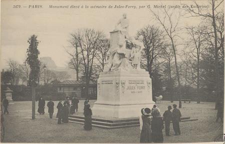 Paris, Monument élevé à la mémoire de Jules Ferry par G. Michel (jardin de…
