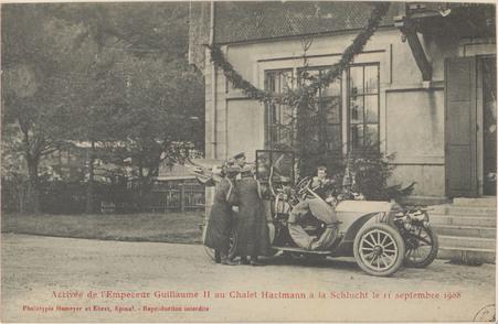 Arrivée de l'Empereur Guillaume II au chalet Hartmann à la Schlucht le 11 …