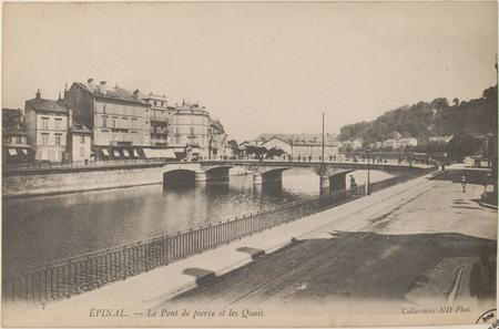 Épinal, Le Pont de Pierre et les Quais
