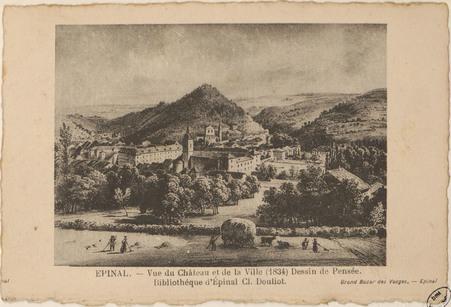 Épinal, Vue du Château et de la ville (1834) […]