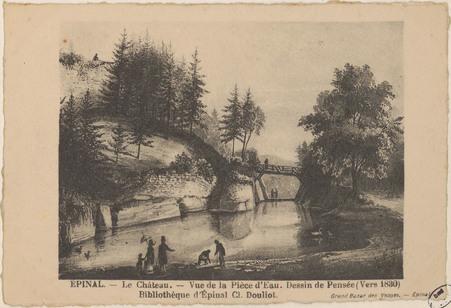 Épinal, Le Château, Vue de la pièce d'eau.[…]