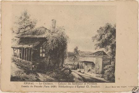Épinal, Le Château, Cabane du jardinier et pavillon. […]