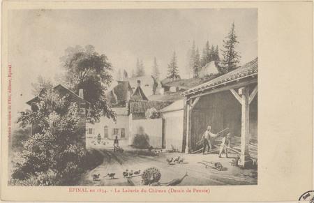 Épinal en 1834, La Laiterie du Château (Dessin de Pensée)