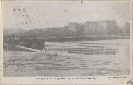 Paris inondé (janvier 1910), Pont de l'Alma