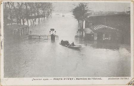 Janvier 1910, Porte d'Ivry: barrière de l'octroi