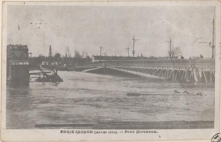 Paris inondé (janvier 1910), Pont Mirabeau
