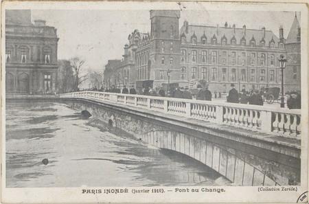 Paris inondé (janvier 1910), Pont du Change