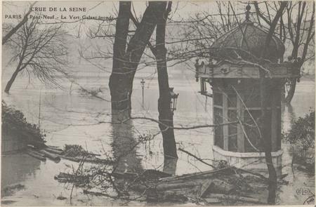 Paris, Pont-Neuf, Le Vert galant inondé
