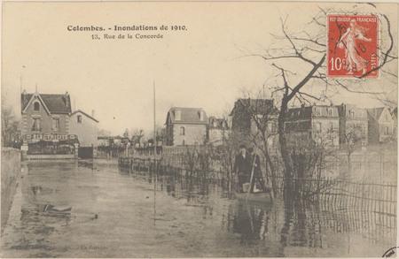 Colombes, Inondations de 1910, 13 rue de la Concorde