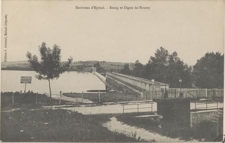 Environs d'Épinal, Étang et digue de Bouzey