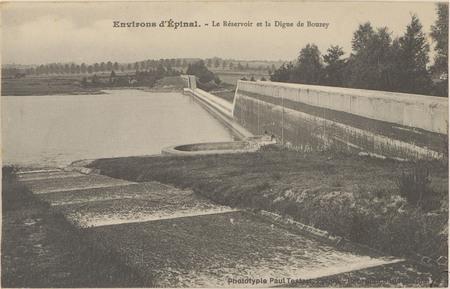 Environs d'Épinal, Le Réservoir et la digue de Bouzey