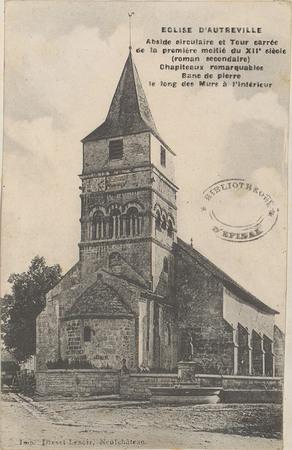 Église d'Autreville, Abside circulaire et tour carrée de la première moiti…