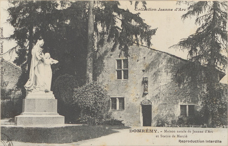Domrémy, Maison natale de Jeanne d'Arc et Statue de Mercié