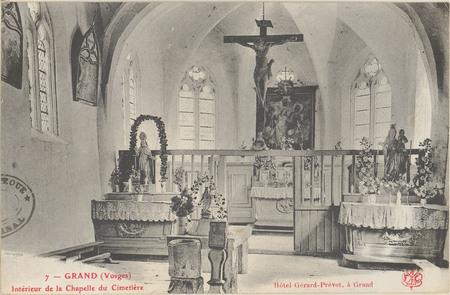 Grand (Vosges, Intérieur de la chapelle du cimetière