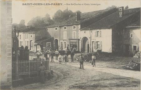 Saint-Ouen-les-Parey, Rues St-Charles et croix historique