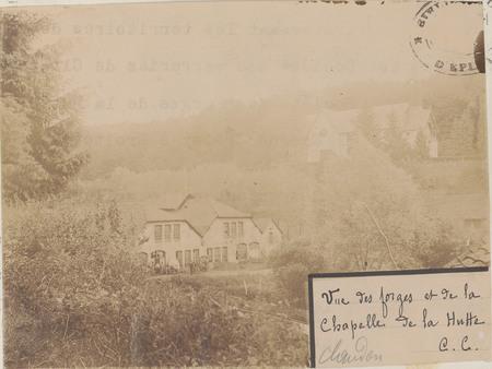 Vue des forges et de la chapelle de la Hutte