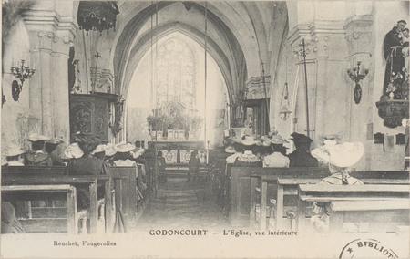Godoncourt, L'Église, vue intérieure