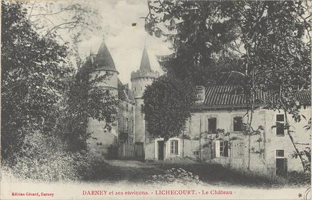 Darney et ses environs, Lichecourt, Le Château